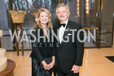 Janet Bedin, Jim Nicholson. Photo by Alfredo Flores. National Museum of Catholic Art and Library's 3rd Annual Roman Gala La Primavera. Embassy of Italy. April 2, 2014