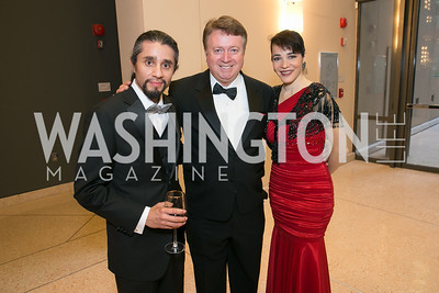 Joe Travez, David Newren, Claudia Hecht. Photo by Alfredo Flores. National Museum of Catholic Art and Library's 3rd Annual Roman Gala La Primavera. Embassy of Italy. April 2, 2014