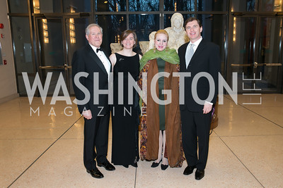 Frank Kendall, Beth Halpern, Christine Warnke, Imre Eszenyi. Photo by Alfredo Flores. National Museum of Catholic Art and Library's 3rd Annual Roman Gala La Primavera. Embassy of Italy. April 2, 2014