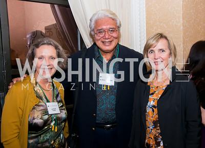 Jan Elliott, Dr. Avegalio Falautusi, Adaliene Frelinghuysen. Photo by Tony Powell. National Tropical Botanical Garden's 50th Anniversary. St. Regis Hotel. October 7, 2014