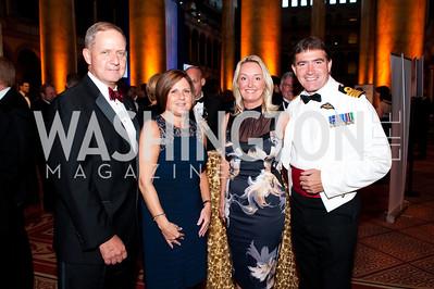 Bob Deforge, Caroline Deforge, Karin Reed, Royal Navy Capt. Kevgin Seymour