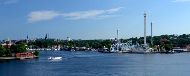 Sailing into Stockholm