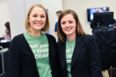 Beth Hein, Janna Hamm, The Northern Virginia Technology Council (NVTC) Technology Innovations at Washington Post HQ.  April 2, 2014. Photo by Ben Droz
