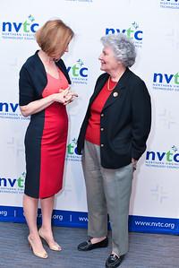 Carly Fiorina, Bobbie Kilberg, The Northern Virginia Technology Council (NVTC) Technology Innovations at Washington Post HQ.  April 2, 2014. Photo by Ben Droz
