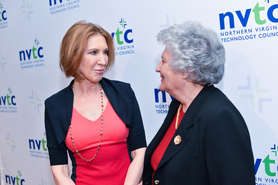 Carly Fiorina, Bobbie Kilberg, The Northern Virginia Technology Council (NVTC) Technology Innovations at Washington Post HQ.  April 2, 2014. Photo by Ben Droz