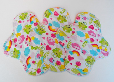 """ONE Light Wrap Wing Pad - flannel print - """"frogs & rainbows"""""""