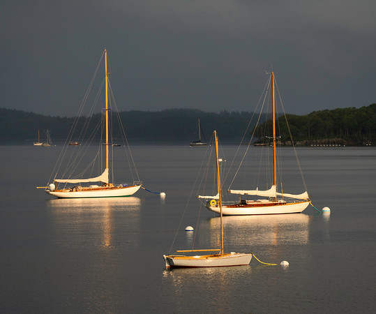 Sailboats in Evening Light