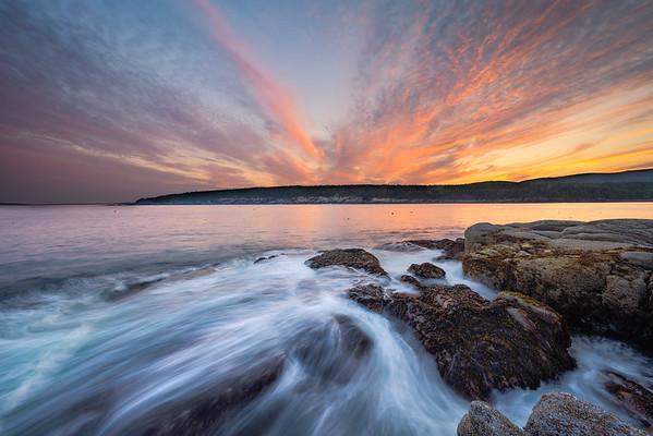 Sunset, Acadia National Park, July 2021