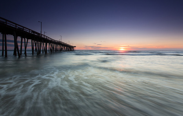 Sunrise at the Fishing Pier, Version 2