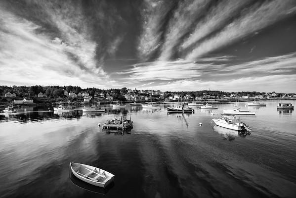 Stonington, Maine, Black and White, July 2020