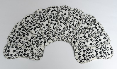 """ONE 7inch TinyLiners - BAMBOO flannel - """"B&W"""""""