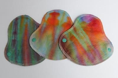 """THREE HalfWrap Liners - bamboo fleece - """"ice dye"""""""