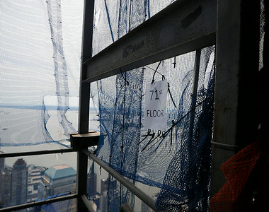 A view of construction on the 71st floor of One World Trade Center in September 2011. (Photo by Jackie Schear)