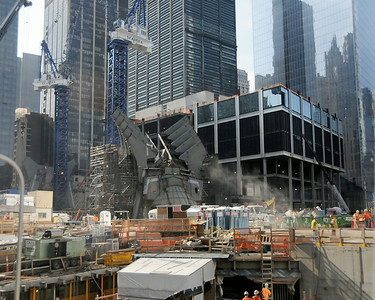 A view of construction at the World Trade Center site in September 2011. (Photo by Jackie Schear)