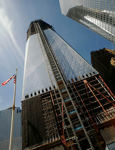 One World Trade Center in New York under construction in September 2011. (Photo by Jackie Schear, @TrentonianPix)
