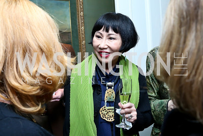 Amy Tan. Photo by Tony Powell. PEN Faulkner Supper with Amy Tan and Deborah Tannen. Pillsbury residence. March 2, 2014