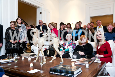 Photo by Tony Powell. PEN Faulkner Supper with Amy Tan and Deborah Tannen. Pillsbury residence. March 2, 2014