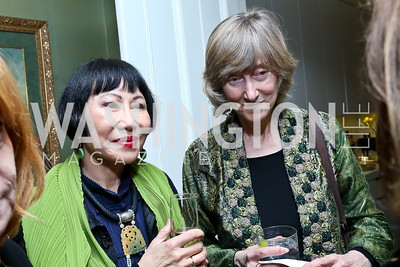 Amy Tan, Deborah Tannen. Photo by Tony Powell. PEN Faulkner Supper with Amy Tan and Deborah Tannen. Pillsbury residence. March 2, 2014