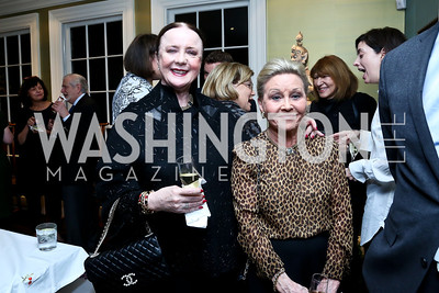 Monica Greenberg, Vibeke Lofft. Photo by Tony Powell. PEN Faulkner Supper with Amy Tan and Deborah Tannen. Pillsbury residence. March 2, 2014