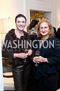 Marilyn Stern, Beth Mendelson . Photo by Tony Powell. PEN Faulkner Supper with Amy Tan and Deborah Tannen. Pillsbury residence. March 2, 2014