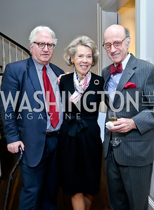 John Lewis, Bobbie Brewster, Finlay Lewis. Photo by Tony Powell. PEN Faulkner Supper with Amy Tan and Deborah Tannen. Pillsbury residence. March 2, 2014