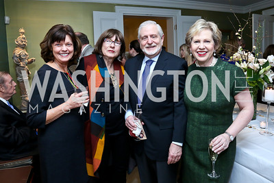 Becky Beauregard, Joan Danziger, Jim Gale and Lisa Barry. Photo by Tony Powell. PEN Faulkner Supper with Amy Tan and Deborah Tannen. Pillsbury residence. March 2, 2014