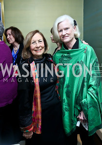 Susan Rappaport, Caroline Croft. Photo by Tony Powell. PEN Faulkner Supper with Amy Tan and Deborah Tannen. Pillsbury residence. March 2, 2014