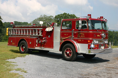 Officer side of Luray's Engine 7.