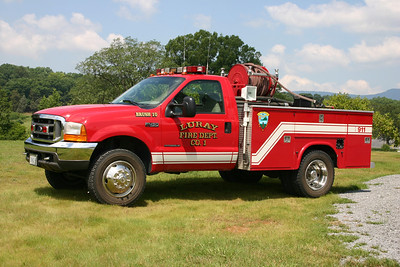 Brush 1 is a 2000 Ford F-450/Local/Singer, 150/220.