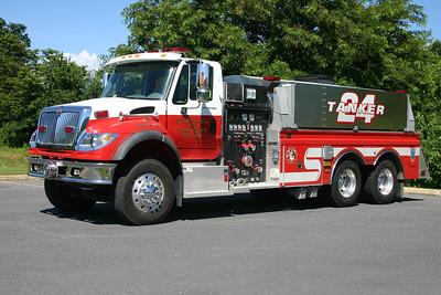 This 2006 International 7600/4-Guys, 1250/2500, sn- F2480 is Tanker 24.