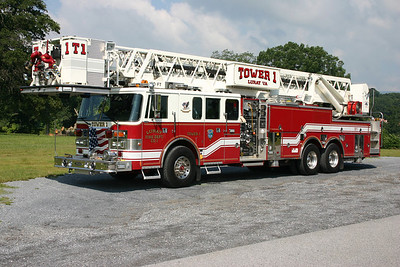 Tower 1 is a 1994 Pierce Lance, 1750/0, 100', sn- E7999.  ex- West Islip, Long Island, New York.  Placed into service by Luray – July, 2011