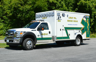 Luray Rescue's newest is Ambulance 304, a 2013 Ford F-450/Horton.