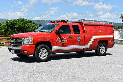 Luray, Virginia's (Page County) Utility 1, a 2007 Chevrolet Silverado.  It was donated to Luray in 2014 by Auto Center, Inc.