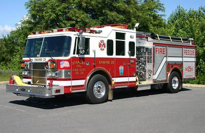 Engine 25 is this 1994 Pierce Lance, 1500/500/30, sn- E8609.  ex- Bethpage, New York.