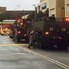 The South Carolina National Guard arrived to assist and eventually relieve the Columbia Fire Department.