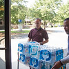 Truckloads of water were donated from out of state.