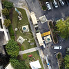 An overhead view of the SC National Guard's ROWPU units at Palmetto Health Richland.