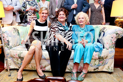 Janis Buchanan, Bonnie Matheson, Ruth Buchanan. Photo by Tony Powell. Newport Society Party. Prince Residence. May 13, 2014