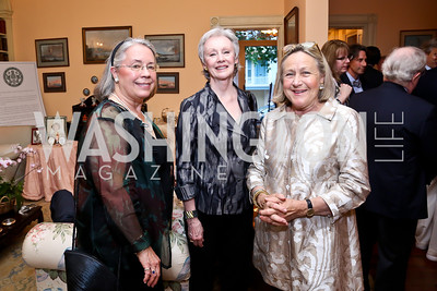 Lynn Roberts, Cynthia Reddick, Louise Schwebel. Photo by Tony Powell. Newport Society Party. Prince Residence. May 13, 2014