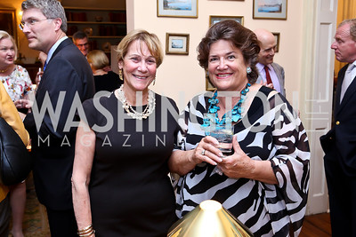 Trudy Coxe, Bonnie Matheson. Photo by Tony Powell. Newport Society Party. Prince Residence. May 13, 2014