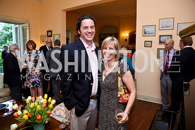 Jonathan and Amy Caron. Photo by Tony Powell. Newport Society Party. Prince Residence. May 13, 2014