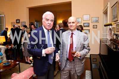 Michael Butler, Bill Nitze. Photo by Tony Powell. Newport Society Party. Prince Residence. May 13, 2014
