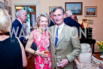 Bobbie Brewster, David Ford. Photo by Tony Powell. Newport Society Party. Prince Residence. May 13, 2014