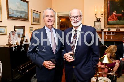 Alexander Crary, Richard Burnham. Photo by Tony Powell. Newport Society Party. Prince Residence. May 13, 2014
