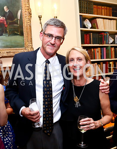 Peter Moore, Elizabeth Leatherman. Photo by Tony Powell. Newport Society Party. Prince Residence. May 13, 2014