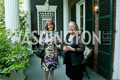 Laurie Ossman, Lynn Roberts. Photo by Tony Powell. Newport Society Party. Prince Residence. May 13, 2014