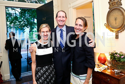 Janis Buchanan, Michael and Cleo Gewirz. Photo by Tony Powell. Newport Society Party. Prince Residence. May 13, 2014