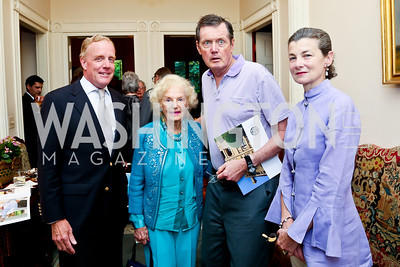 Outerbridge Horsey, Ruth Buchanan, Freddy Prince, Georgina Horsey. Photo by Tony Powell. Newport Society Party. Prince Residence. May 13, 2014