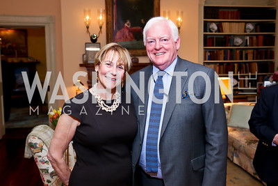 Trudy Coxe, Rusty Powell. Photo by Tony Powell. Newport Society Party. Prince Residence. May 13, 2014