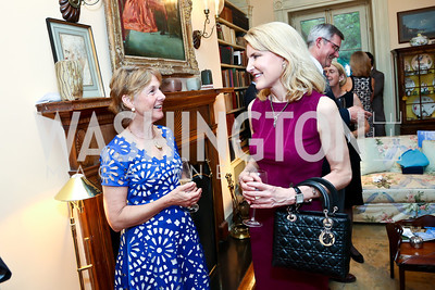 Louisa Woodville, Charlene King. Photo by Tony Powell. Newport Society Party. Prince Residence. May 13, 2014